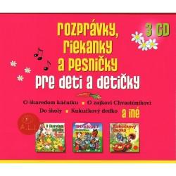 Rozprávky, riekanky a pesničky pre deti a detičky - 3CD